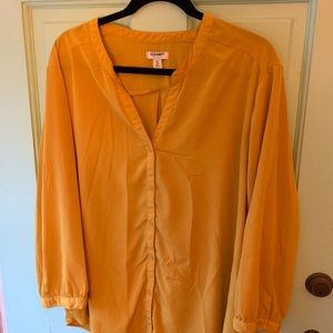 Old Navy Golden Yellow Button Down - XXL